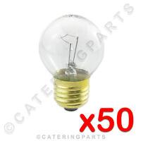 50 x HIGH TEMPERATURE LA40 ROUND BULB E27 OVEN LAMP 230V 40W ES SCREW IN 300°C