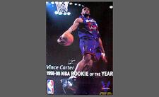 Rare Vince Carter SIGNATURE ROOKIE POSTER Toronto Raptors ROY 1999 Poster