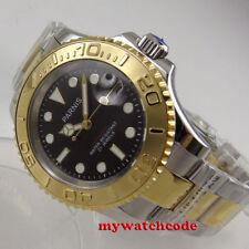41mm Parnis black dial Sapphire Ceramic 21 jewels miyota automatic mens watch
