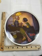 """Norman Rockwell Vintage Ltd Edition Plate """"After the Party"""" Mother's Day 1981"""