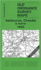 OLD ORDNANCE SURVEY MAP ASHBOURNE CHEADLE GRINDON ROCESTER & DISTRICT 1895
