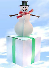 Snowman with Block of Ice Gift Box-Wrapping Paper