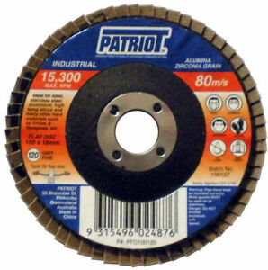 125mm Industrial Flap Disc 125x22mm 80 Grit - Box of 25