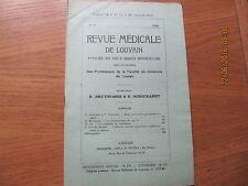 Revue Médicale de Louvain N°13 1932 Les pneumocoques du type III