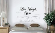 New LIVE LOVE LAUGH QUOTE WALL DECALS Words Stickers Quotables Vinyl Art Décor