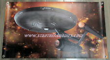 NEW VINYL BANNER Star Trek: Original Series U.S.S. ENTERPRISE NCC-1701 on Gold!