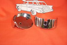 1957 Chevy Hood Backing Plates New Chrome Belair Sedan Hardtop Nomad Made In USA