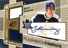 07-08 ud spx flashback fabrics borje salming leafs dual jersey autograph auto