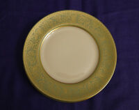 """Franciscan china CROWN RENAISSANCE Green, Set of 4 Bread & Butter Plates, 6.25"""""""