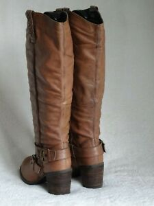 NEXT TAN BUTTER SOFT LEATHER WARM FLEECE LINED PULL ON BOOTS SZ 6 UK 39 EUR VGC