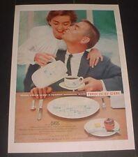 VINTAGE MID CENTURY PRINT AD 1956 FRANCISCAN WARE OASIS ATOMIC STARBURST CHINA