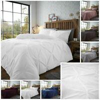 Teddy Fleece CHISWICK PINTUCK Pleat Duvet Cover Set Super Soft Cosy Bedding Sets