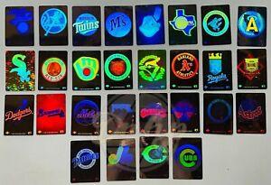 MLB UPPER DECK Hologram Baseball Cards/Stickers LOT (28) Made USA Vintage 1990s