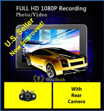 "GPS,  Dash cam w/ Rear Cam, Radar Detector,  All-in-1 device 7"" Android. WT-990"