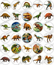 30 x Dinosaurs Jurassic Fun Party Edible Rice Wafer Paper Cupcake Toppers