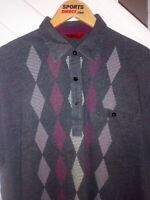 Gabicci Vintage Mens Grey Classic Retro Polo Shirt size XL