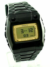 CASIO BABY-G BG2100-1 Square Yellow Digital Dial Black Resin Strap