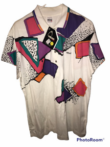 VTG HEAD Colorblock Abstract Polo Shirt with Tags XL