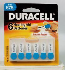 Duracell 675 HEARING AID BATTERIES ~Easy Tab~ 1.4 volt Zinc Air (6 Pack) NEW!!!!