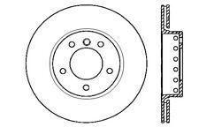 Centric Parts 125.34072 Rear Premium Brake Rotor