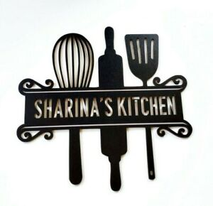 34cm Personalised Kitchen Monogram Sign
