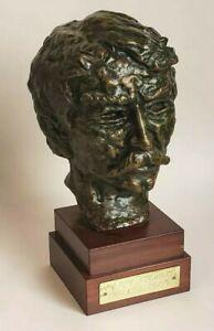 "Carl Pappe Bronze Bust ""Happy Stewart "" - Very Nice Bronze Sculpture - Signed"