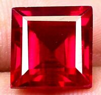 AAA Burma 8.80 Ct Natural Red Ruby Square Shape Loose Gemstone Certified F3947