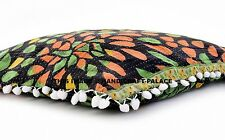 "20"" Vintage Kantha Quilt Cushion Cover Cotton Ethnic Indian Handmade Pillow Sham"