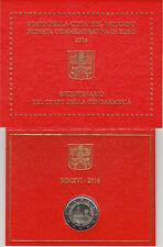Vaticano 2016 Cartera Oficial Moneda 2 ? euros Bicentenario Gendarmería