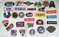 Patch Biker Racing Motorcycle Embroidered Iron On Sew Logo Car Oil Skull 29 pcs