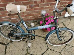 Vintage Raleigh Denim Bike Eighteen Chopper Era 1970's Bike Antique Bike