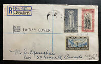 1945 Wellington New Zealand First Day Cover To Vancouver Canada Peace Issue