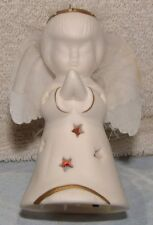 3.75 Inch Tall Porcelain Led Light Changing Angel Battery Operated Ornament