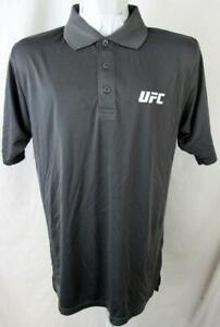 "UFC Mens M XL or 2XL Short Sleeve Screened ""UFC"" Performance Polo Shirt UFC 140"