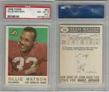 1959 Topps Football, #50 Ollie Matson HOF, Rams, PSA 8 OC NMMT
