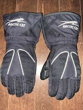 Arctic Cat Snowmobile Gloves - Kids Large - Leather Palm-Thinsulate