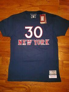 NWT Mitchell & Ness Bernard King New York Knicks Hardwood Classics T-Shirt Men S