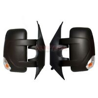 For NIssan NV400 Door Black Wing Mirrors Electric Heated 2010-2016 Pair Set