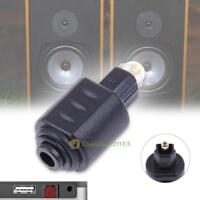 Optical Audio Adapter 3.5mm Female Jack Plug to Digital Toslink Male Connector