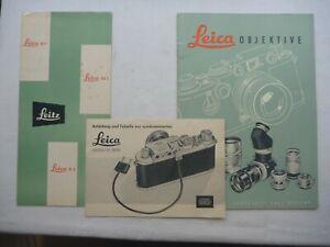Leica Prospekte IIf, IIIf & M3 (700) Synchronisation & Leica OBJEKTIVE 1954/55