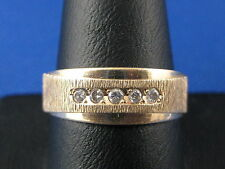 VINTAGE MENS 14K YELLOW GOLD DIAMOND RING SIZE 9.25