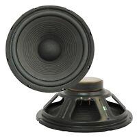 "PRO AUDIO 12"" RAW Replacement DJ SubWoofer SUB Loud Speaker PAIR 8Ohm"