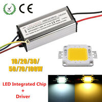 10W 20W 30W 50W 100W Waterproof High Power LED Driver Supply + LED SMD Chip Bulb
