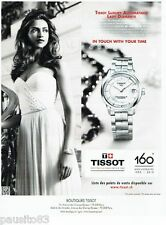 PUBLICITE ADVERTISING 116  2013  la montre Tissot  Luxury  diamant auto lady