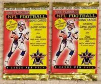 (2x) 2000 Pacific Vanguard Football Hobby Packs - Tom Brady RC Rookie?!