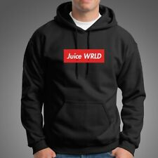 Juice Wrld Box Logo Men's Black Hoodie Clothing