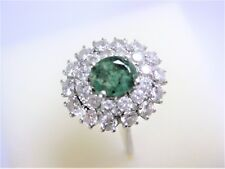 Ring White Gold 750 with Emerald and Diamonds, 4,41 G