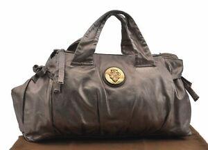 Authentic GUCCI Hysteria Tote Bag Leather 197021 Silver D6503