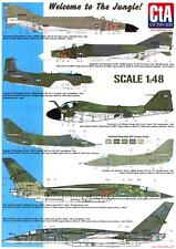 CTA Decals 1/48 WELCOME TO THE JUNGLE U.S. Navy Aircraft in Olive Drab Vietnam
