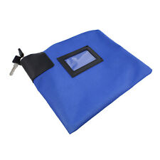 Bisupply | Locking Money Bag Lock Bag Bank Bag with Lock Cash Bag in Navy Blue